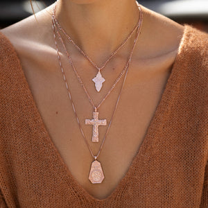 Antiquity Cross Necklace - Large