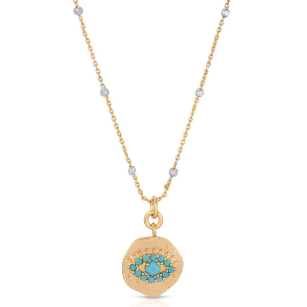 Daydreamer Pendant Necklace in Turquoise