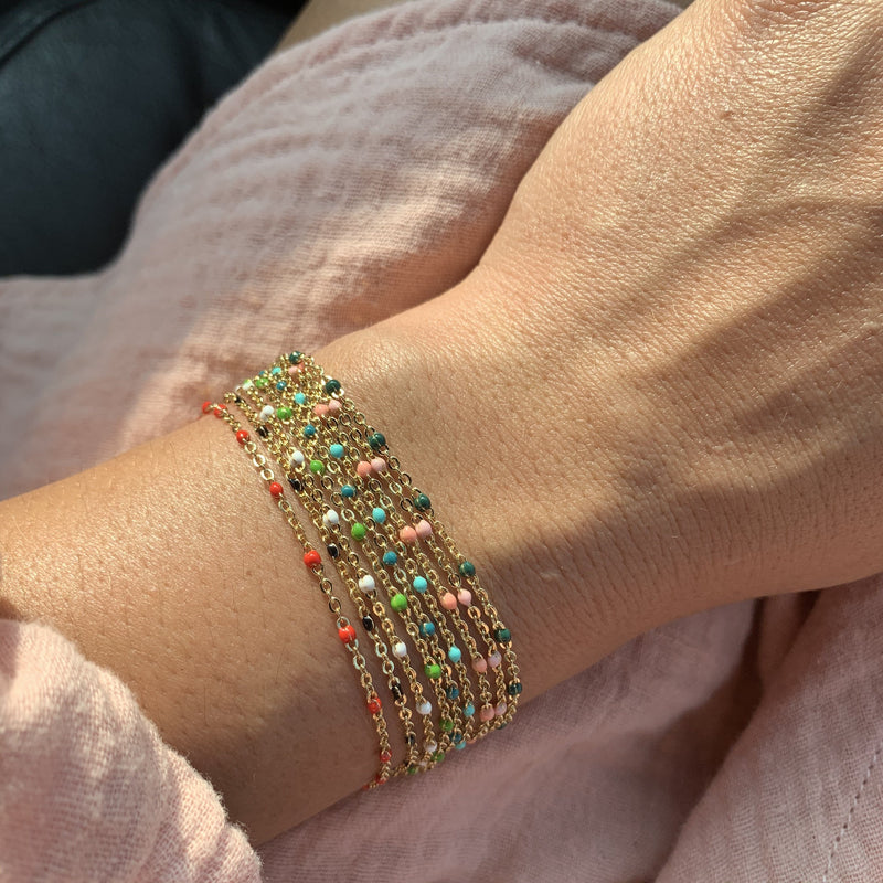 Enamel Beaded Bracelets