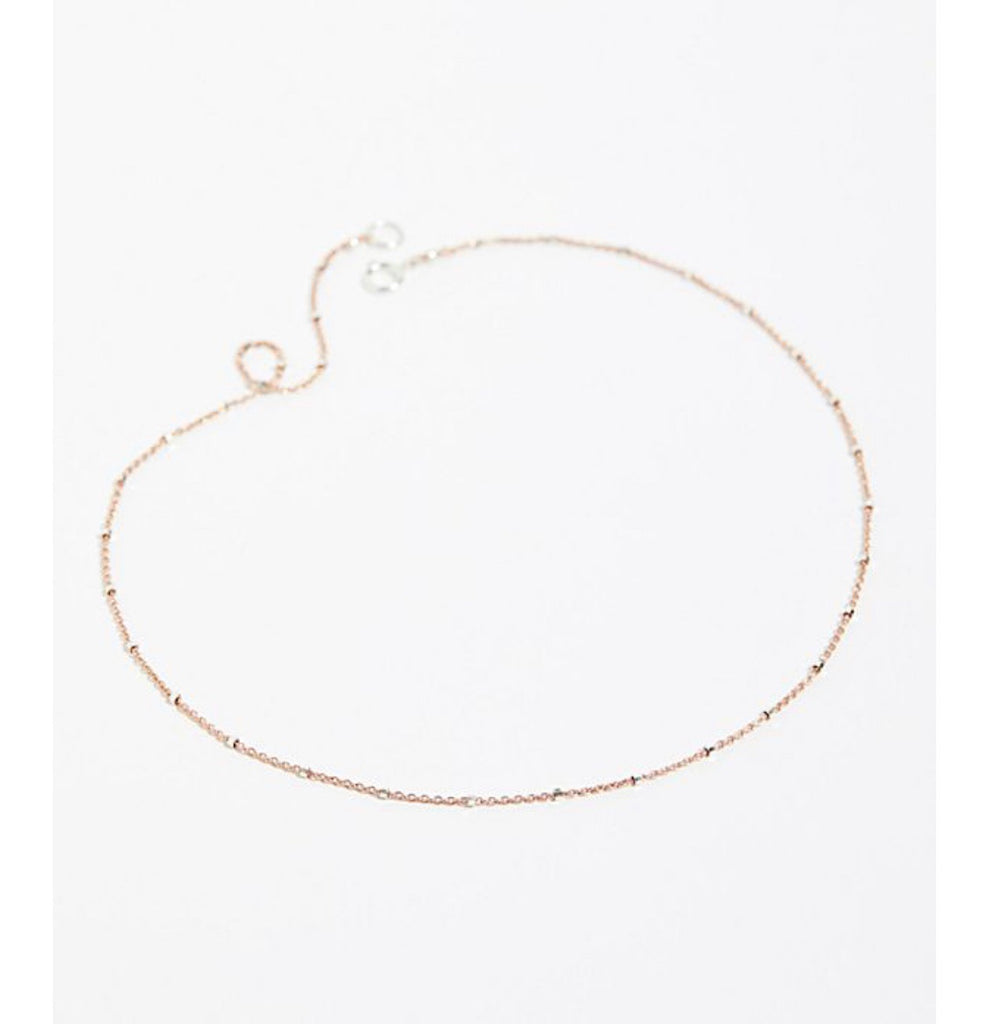 Sparkle Choker in Rose Gold
