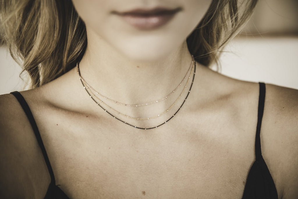 Sparkle Choker in Oxidized Silver, Rose Gold, Gold, or Silver