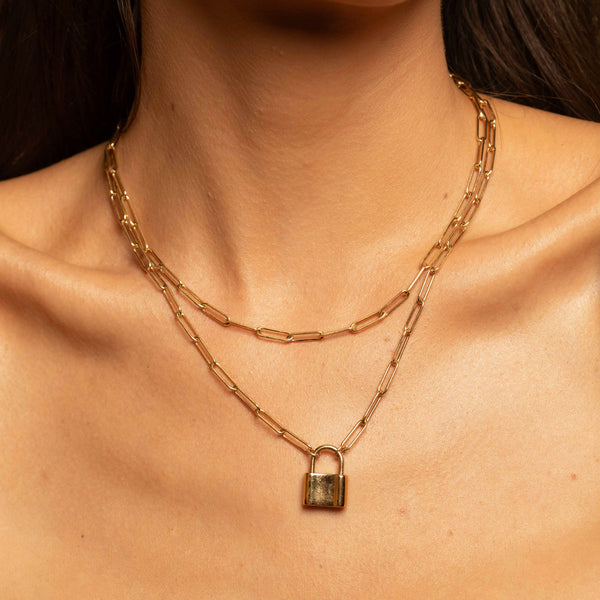Chunky Monaco Lock Necklace