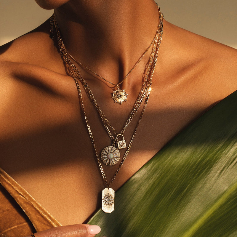 Indio Lock Necklace in Clear