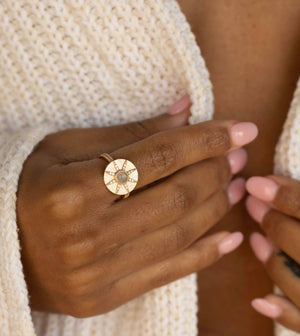 Stargazer Ring - Moonstone