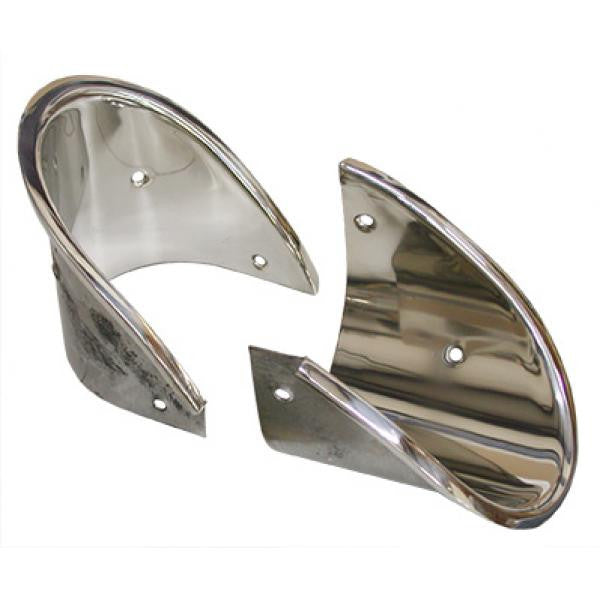 Corvette 1963 Exhaust Bezels (Stainless) (Pair) - VETTE PARTS USA .COM