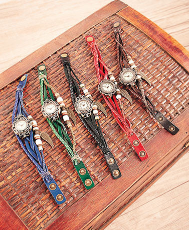 Leather Charm Bracelet Watches - All In One Place With Us - 6