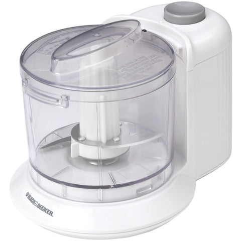 Black & Decker HC306 1-1/2-Cup One-Touch Electric Chopper, White - All In One Place With Us - 1