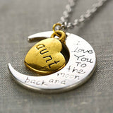 I Love You Mother Mom, Aunt, Father, Daughter, Sister & Brother Gift Engraved Letter Pendant - All In One Place With Us - 2