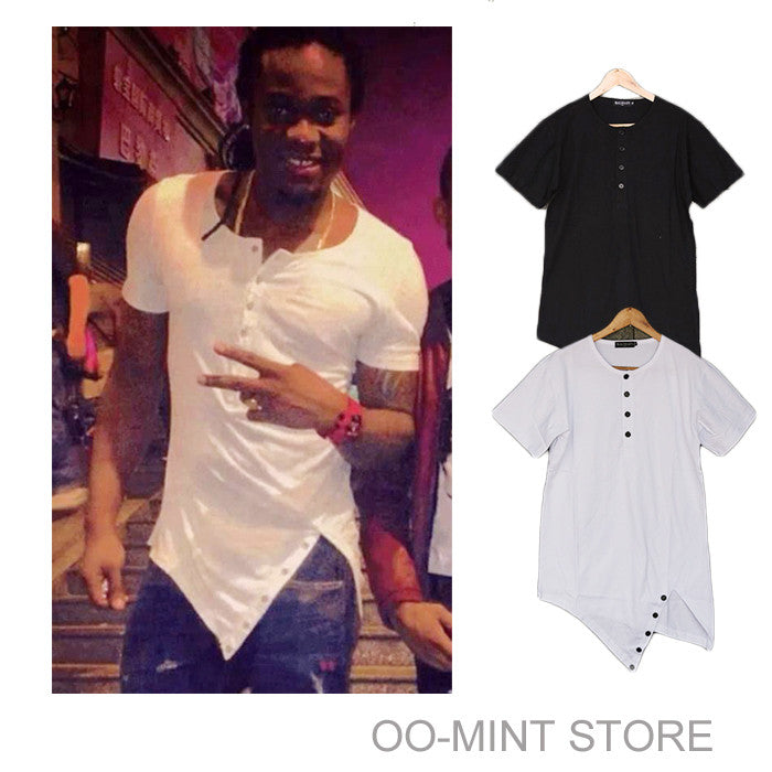 Black White Fashion Brand Men's Swag Top Tees T-shirt - All In One Place With Us