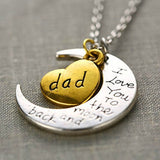 I Love You Mother Mom, Aunt, Father, Daughter, Sister & Brother Gift Engraved Letter Pendant - All In One Place With Us - 4