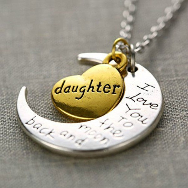 I Love You Mother Mom, Aunt, Father, Daughter, Sister & Brother Gift Engraved Letter Pendant - All In One Place With Us - 5