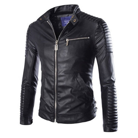 Stylish Men's Leather Road Jacket - All In One Place With Us - 2