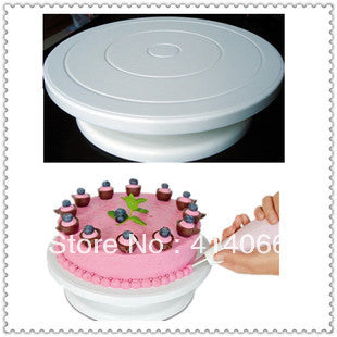 "Free shipping  Pro 11"" Rotating Revolving Cake Sugarcraft Turntable Decorating Stand Platform - All In One Place With Us"