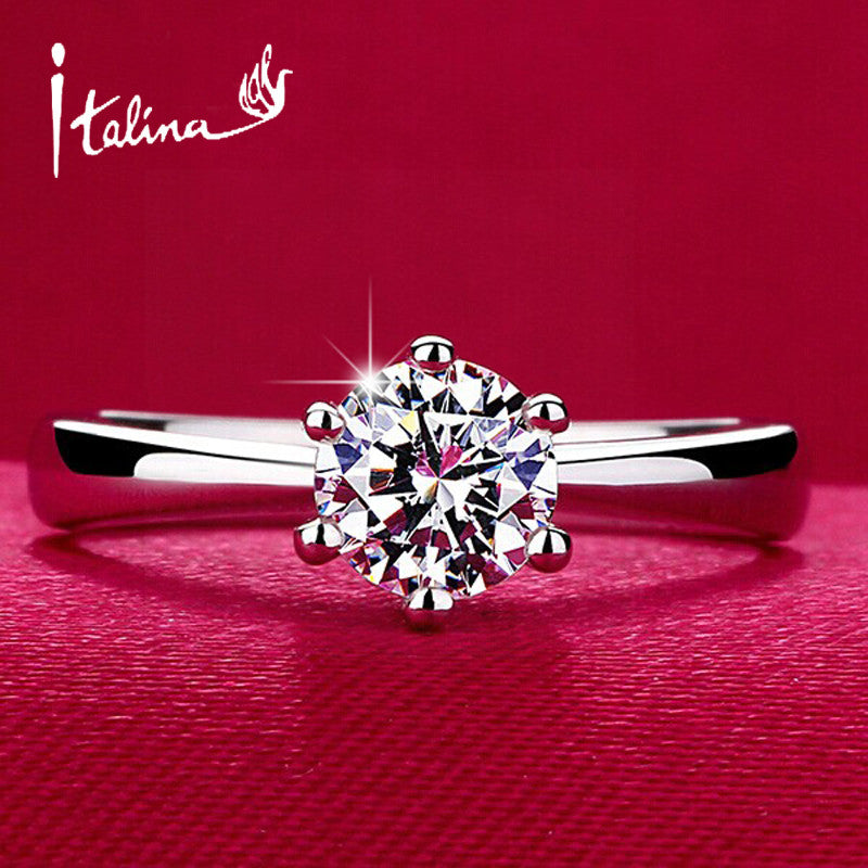 Classic Design Simulated Diamond Wedding Ring - All In One Place With Us