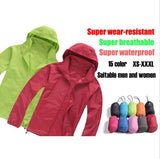 Men & Women Waterproof Windproof Hiking Jacket Camping Jacket Style Fashion Coats Quick-Drying Windbreak Jackets Man 15Colors - All In One Place With Us - 1