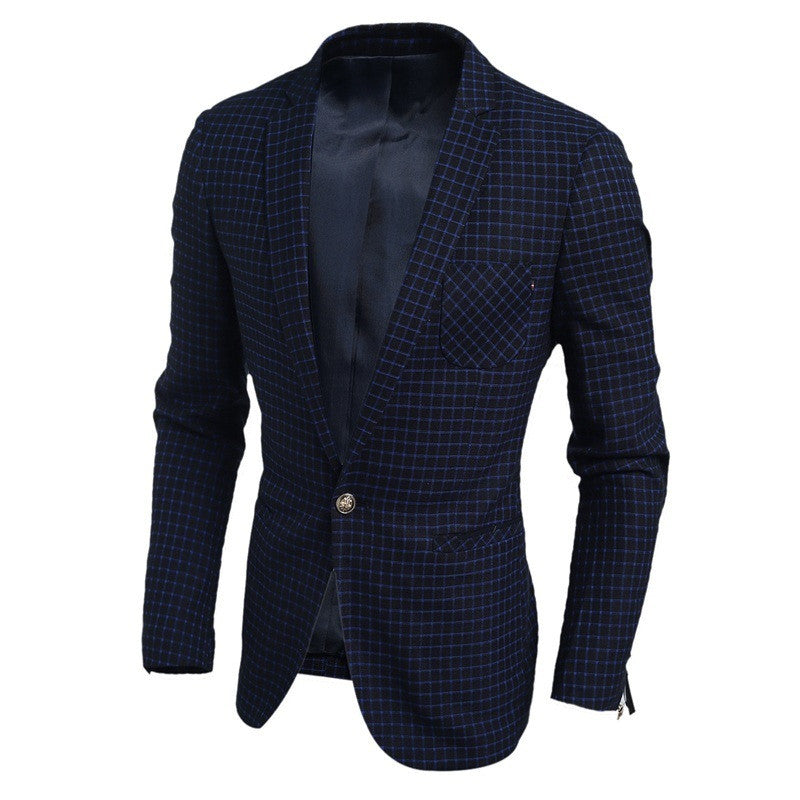 Navy One-button Blazer - All In One Place With Us - 3