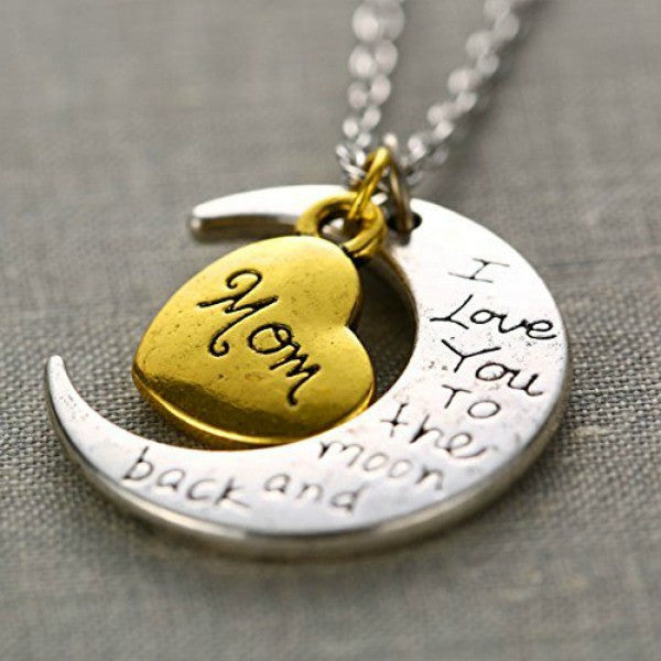 I Love You Mother Mom, Aunt, Father, Daughter, Sister & Brother Gift Engraved Letter Pendant - All In One Place With Us - 1
