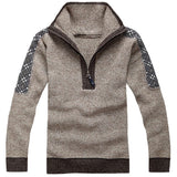 Casual Solid Pattern Knitted Sweater - All In One Place With Us - 2