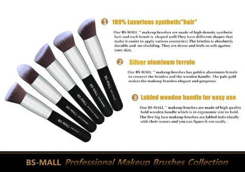 Premium Synthetic Kabuki Makeup Brush Set - All In One Place With Us - 1