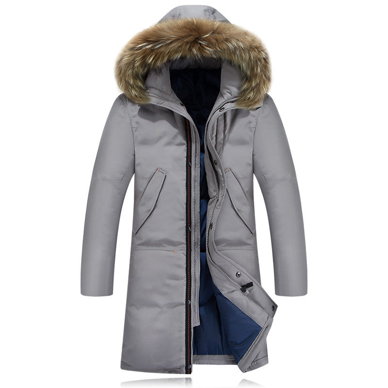 Winter Jacket Men New Extra Long Duck Down Snow Warm Thicken X Long Clothing Casual