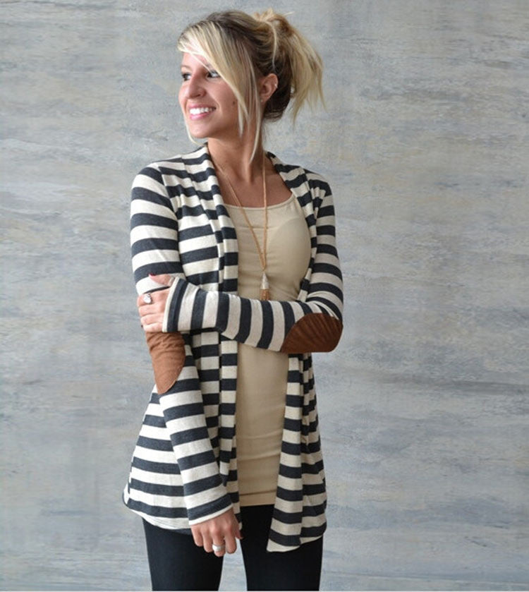 Casual Loose Knit Waterfall Cardigan Long Sleeve All In One Place