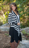 Casual Loose Knit Waterfall Cardigan Long Sleeve - All In One Place With Us - 2