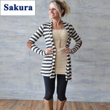 Casual Loose Knit Waterfall Cardigan Long Sleeve - All In One Place With Us - 1