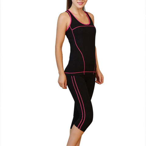 Women Skinny Capri Pants Sports Yoga Sets - All In One Place With Us - 4