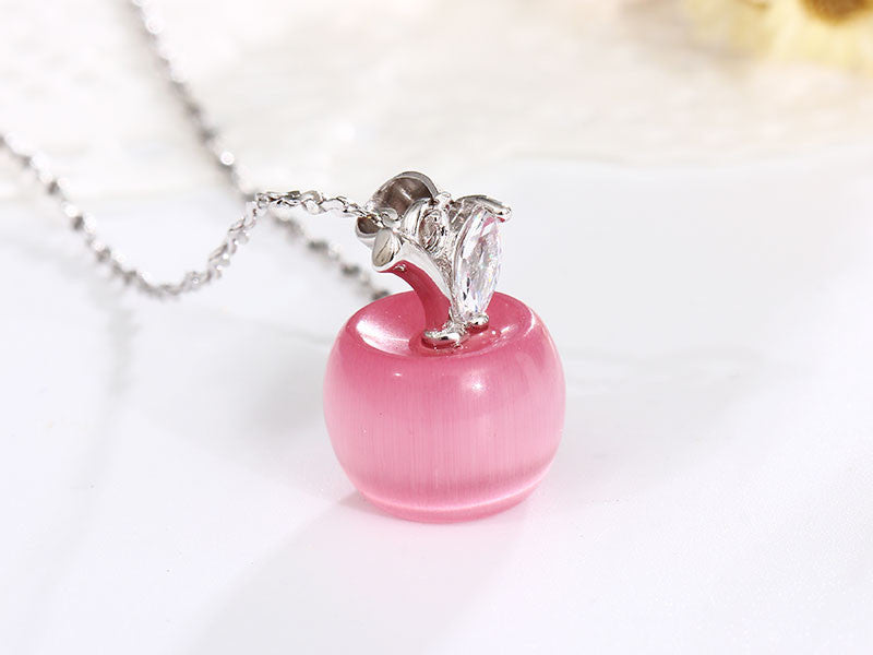 TEACHERS NECKLACE WITH CRYSTAL APPLE PENDANT OFFER - All In One Place With Us - 2
