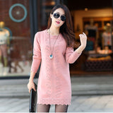 Women Cute Warm Long Knitted Sweater Dress - All In One Place With Us - 3