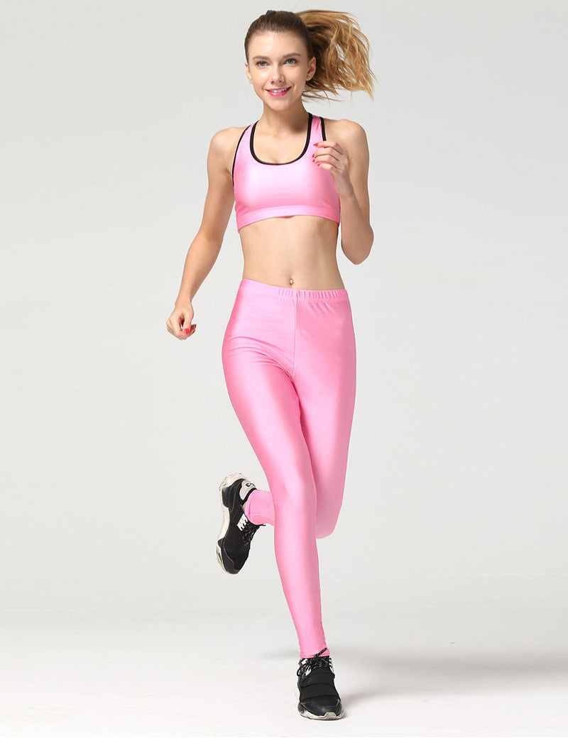 Women Candy Sporting Fitness Leggings Sets - All In One Place With Us