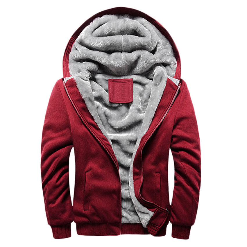 Men Hoodies Thick Warm Fashion Sweatshirt Jacket - All In One Place With Us - 1