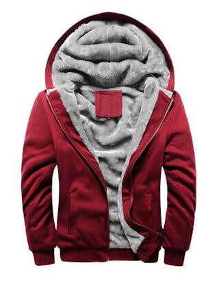 Men Hoodies Thick Warm Fashion Sweatshirt Jacket - All In One Place With Us - 3