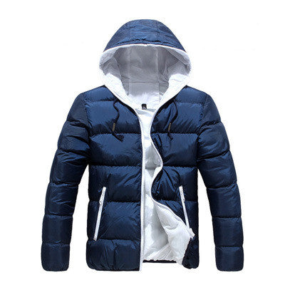 4XL Men Casual New Hooded Thick Padded Jacket Zipper Slim Men And Women - All In One Place With Us - 3