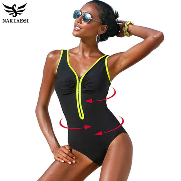 One Piece Swimsuit - Plus Size Available
