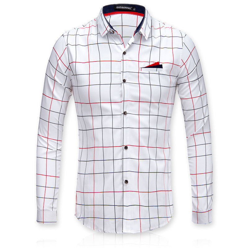 Men Business Casual Long Sleeve Shirt