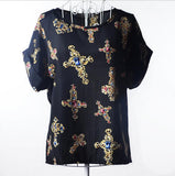 (ON SALE) Women  Blouse Bird Bat Shirt Short-Sleeved Shiffon 50% OFF PLUS FREE SHIPPING - All In One Place With Us - 17