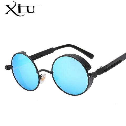Gothic Steampunk Mens Sunglasses - Coating Mirrored