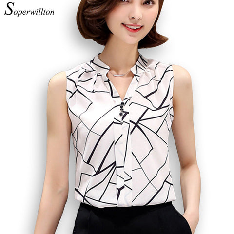 (ON SALE) Soperwillton New Summer Chiffon Blouse 50% OFF PLUS FREE SHIPPING - All In One Place With Us - 1