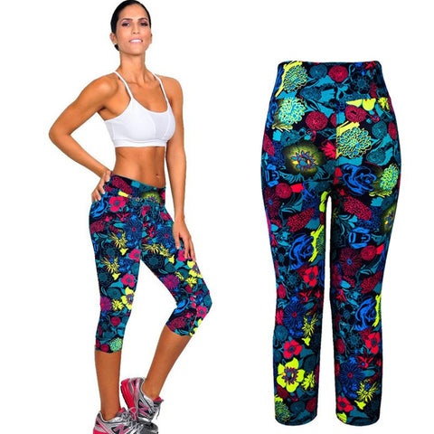 Fitness Mid Calf Elastic Pants Gym Running Leggins - Get Sexy!!- Various Colors - All In One Place With Us - 1