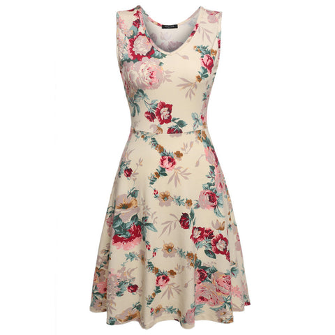 Women Brand Elegant Floral Dress - All In One Place With Us - 12