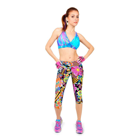 Fitness Mid Calf Elastic Pants Gym Running Leggins - Get Sexy!!- Various Colors - All In One Place With Us - 6