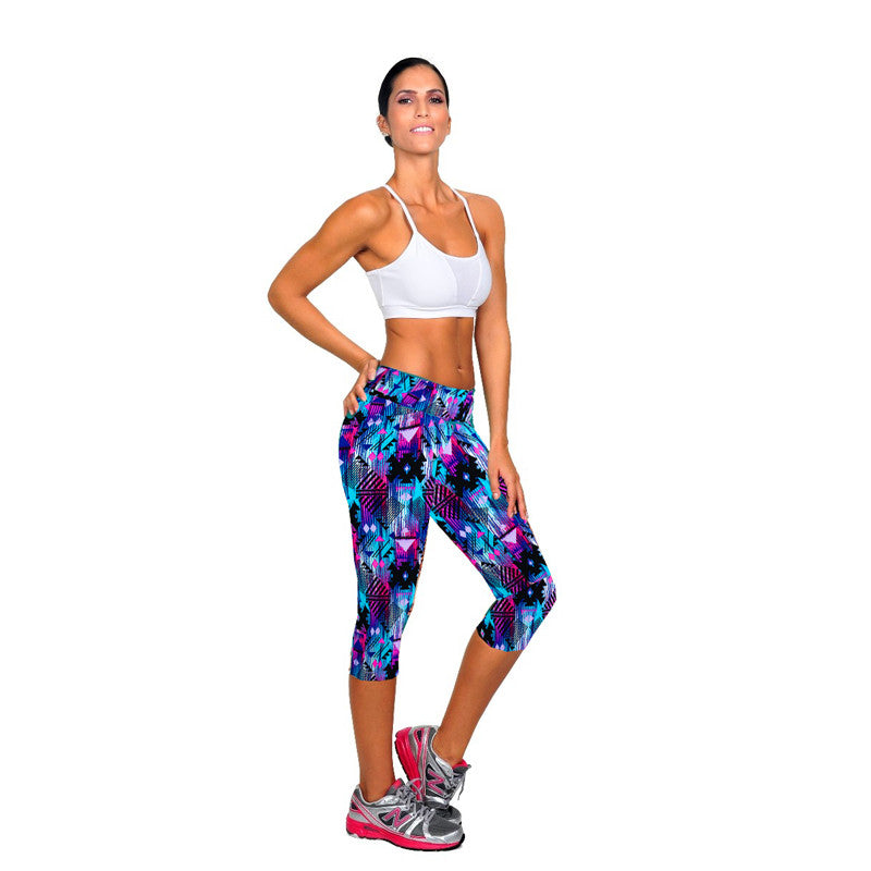 Fitness Mid Calf Elastic Pants Gym Running Leggins - Get Sexy!!- Various Colors - All In One Place With Us - 11