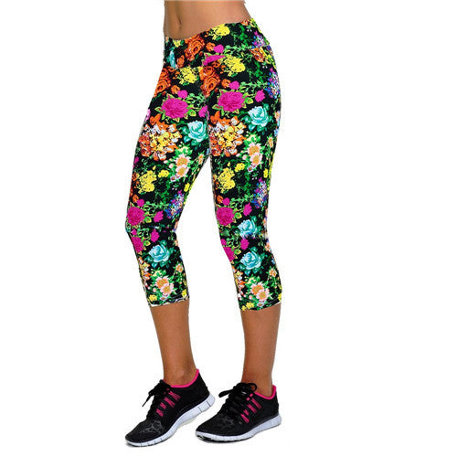 Fitness Mid Calf Elastic Pants Gym Running Leggins - Get Sexy!!- Various Colors - All In One Place With Us - 10