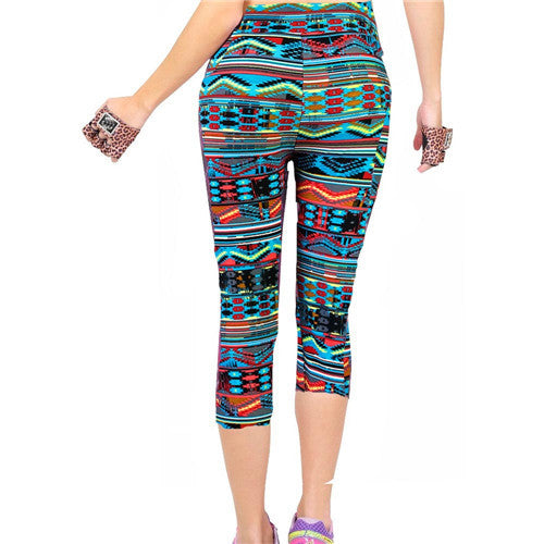 Fitness Mid Calf Elastic Pants Gym Running Leggins - Get Sexy!!- Various Colors - All In One Place With Us - 4