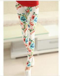 Elastic Design Vintage Graffiti Leggings Floral Patterned - Various Styles!! - All In One Place With Us - 14