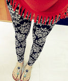 Elastic Design Vintage Graffiti Leggings Floral Patterned - Various Styles!! - All In One Place With Us - 4