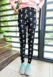 Elastic Design Vintage Graffiti Leggings Floral Patterned - Various Styles!! - All In One Place With Us - 13