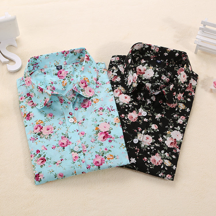 Floral Blouse Long Sleeve Shirt
