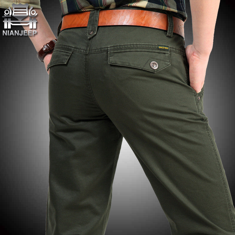 Big Size 30 40 42 Cotton Pants Casual  Men Clothing Military - All In One Place With Us - 1